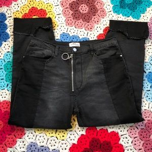 H&M Black Two Tone O Ring Skinny Jeans